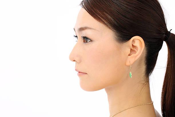 日本の女性 - 女性 横顔 日本人 ストックフォトと画像