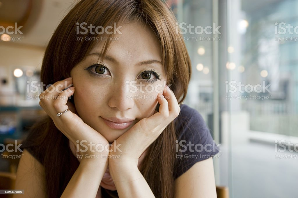 Japanese woman (close-up) royalty-free stock photo