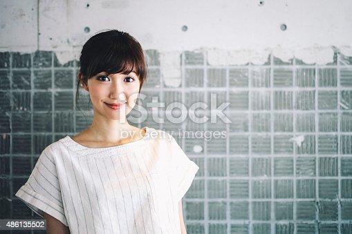 istock Japanese woman portrait. 486135502