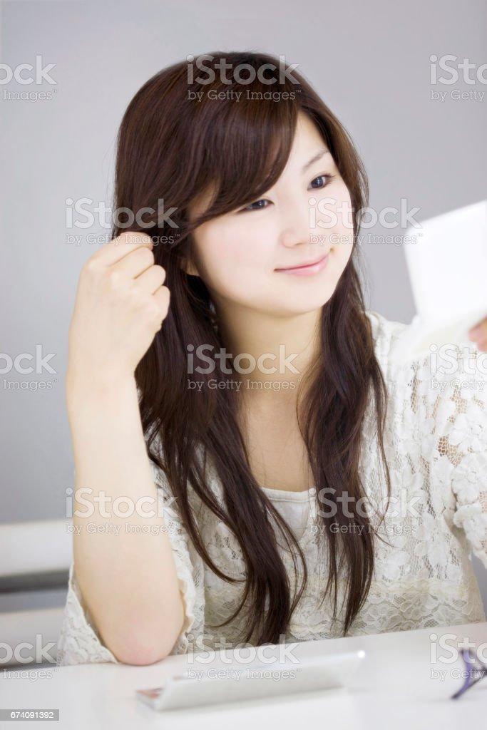 Japanese woman portrait royalty-free stock photo