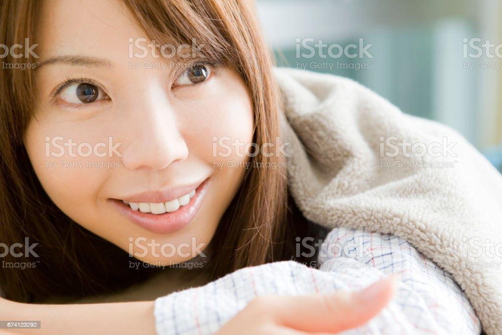日本女人肖像 免版稅 stock photo