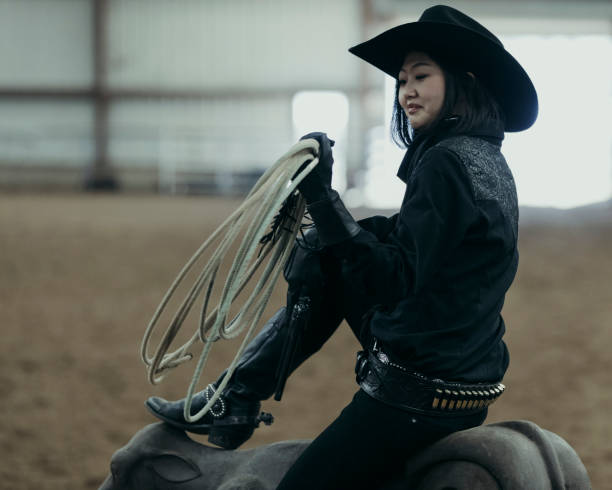 7324d0a8f3f0f Top 60 Woman In A Cowboy Hat With Her Head Down Stock Photos ...