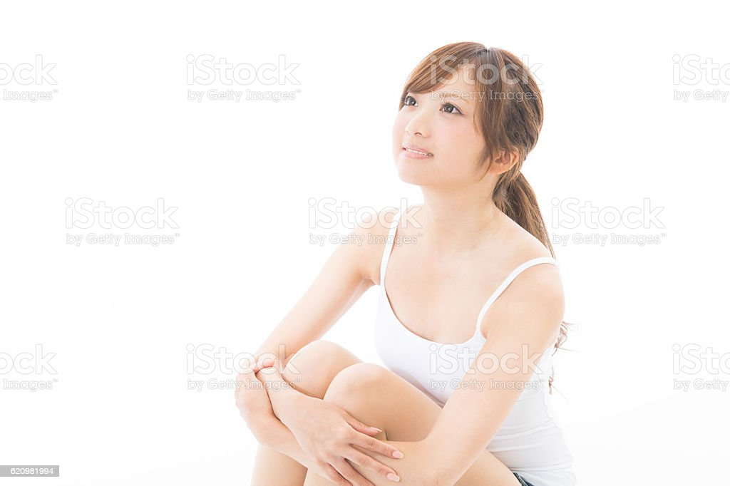 Japanese woman wearing a camisole foto royalty-free