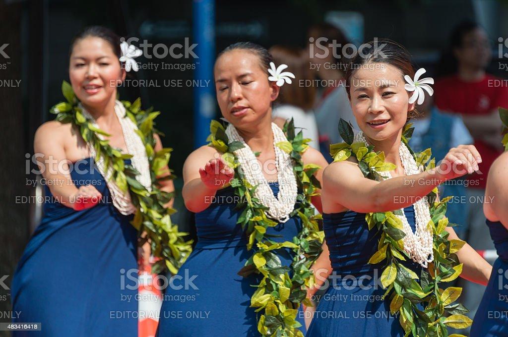 Las mujeres japonesas baile - foto de stock