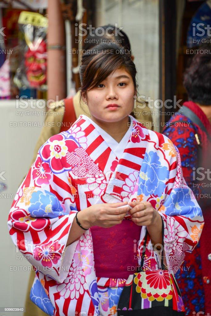 Fotografía de Las Mujeres Japonesas Vestidas Con Kimono Japon ...