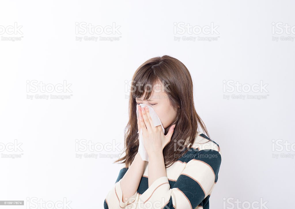 Japanese women have a Handkerchief paper stock photo