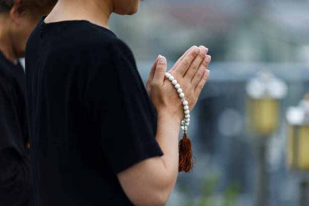 Japanische Frauen Kleidung Trauer – Foto