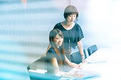 istock japanese women working with laptop 540104046