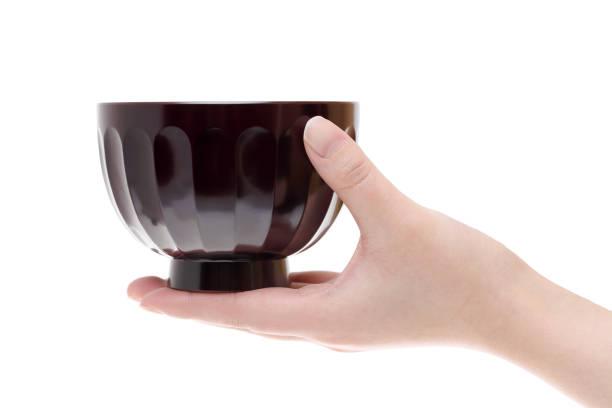 日本の木製のボウル - ご飯茶碗 ストックフォトと画像
