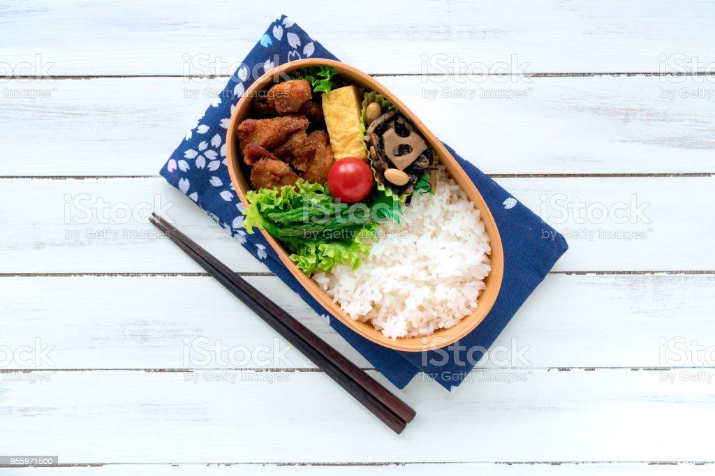 日本の木製弁当箱曲げわっぱ ストックフォト