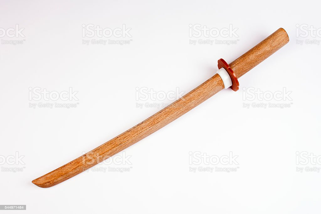 japanese wooden short sword stock photo