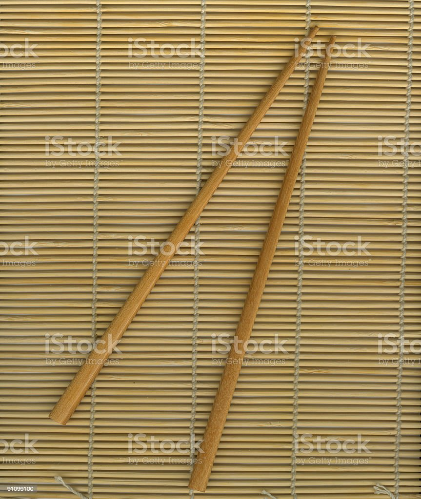 japanese wooden sticks royalty-free stock photo