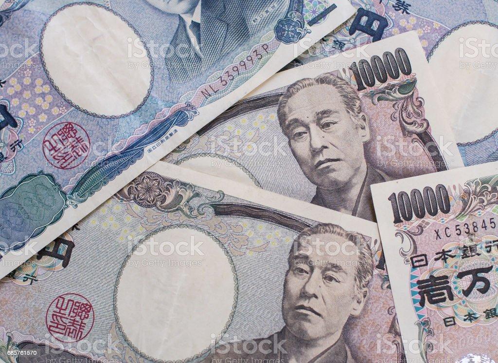 Japanese yen currency, Japan money zbiór zdjęć royalty-free