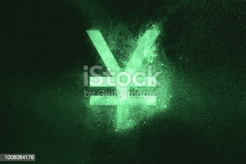 istock Japanese yen sign, Japanese yen symbol. Green symbol 1008084176