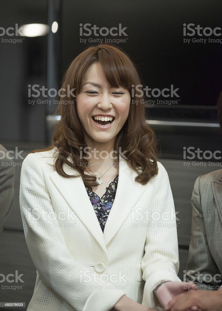 japanese young business woman stock photo