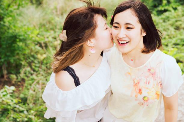 Japanese Lesbian Kissing Orgy