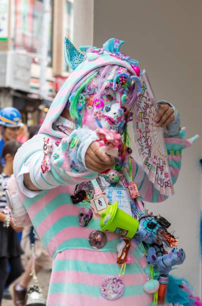 japanische jugend im cosplay-outfit in harajuku, tokio - tokyo cosplay stock-fotos und bilder
