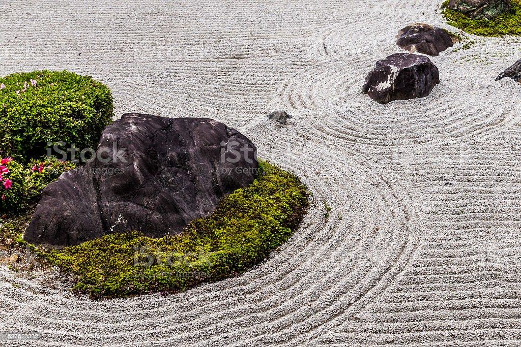 Japanese Zen Garden stock photo