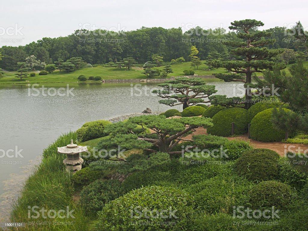Japanese-Style Landscape stock photo