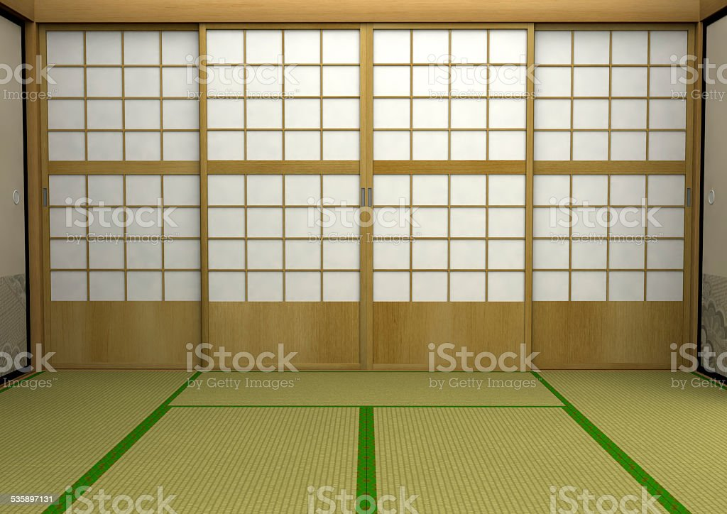 Japanese-style room stock photo