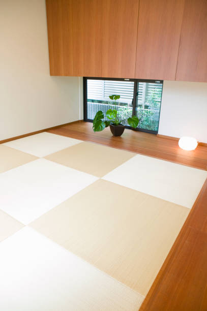 日本のスタイルのお部屋 - 畳 ストックフォトと画像