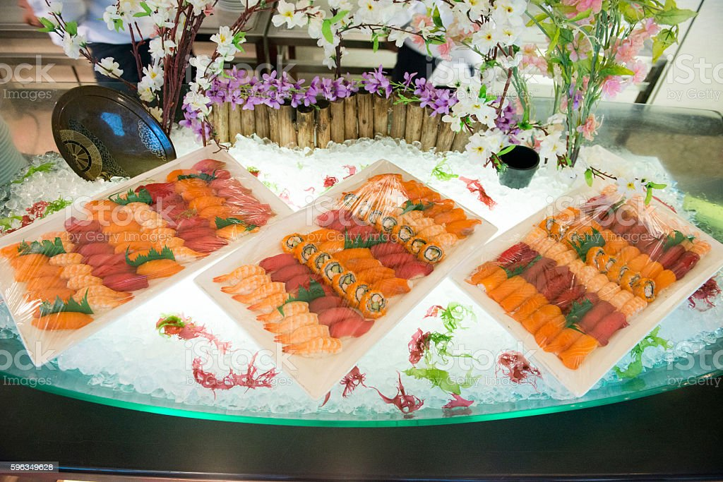 Japannese Line Buffet royalty-free stock photo