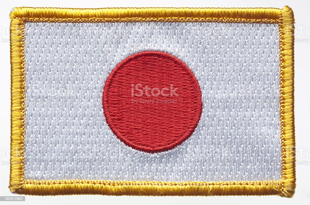 Japan's Flag Patch. stock photo