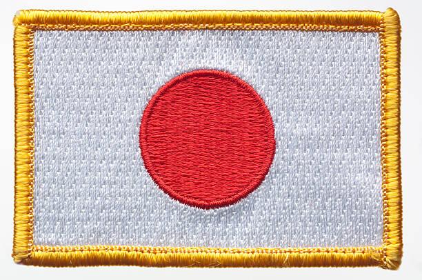 Parche bandera de Japón. - foto de stock