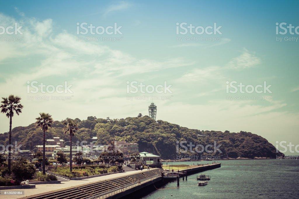 日本の風光明媚なスポット「江ノ島」 ストックフォト