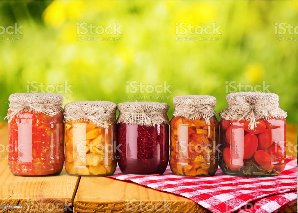 Jar, Food, Canning stock photo