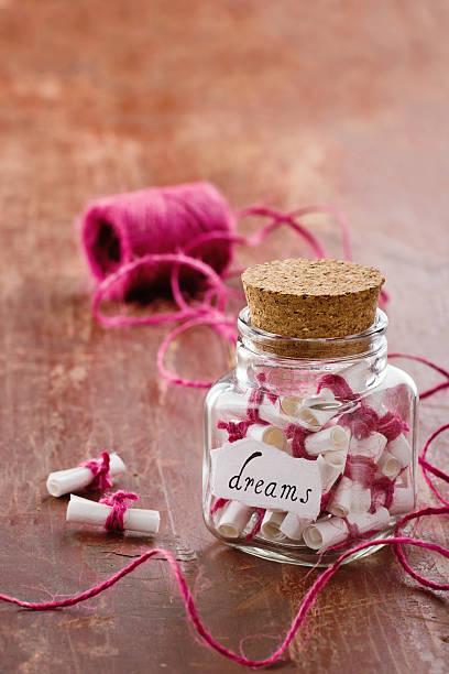 Jar full of dreams stock photo