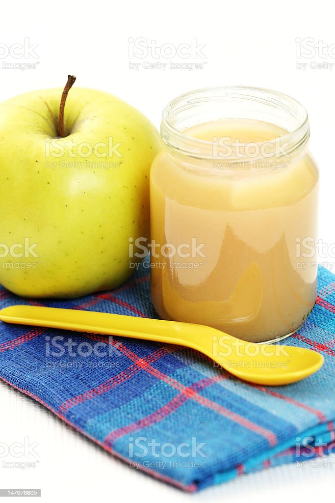 jar of apple royalty-free stock photo