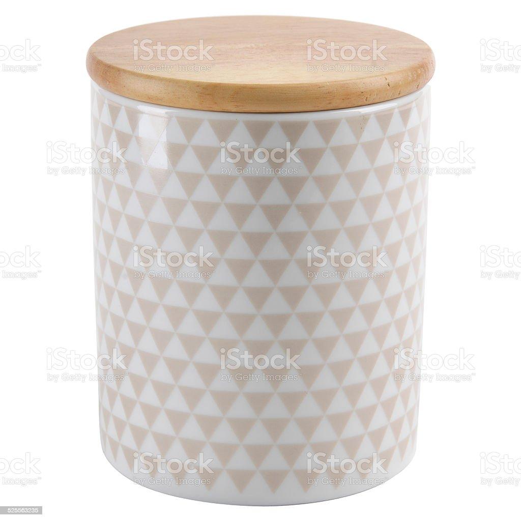 Jar of ceramic stock photo