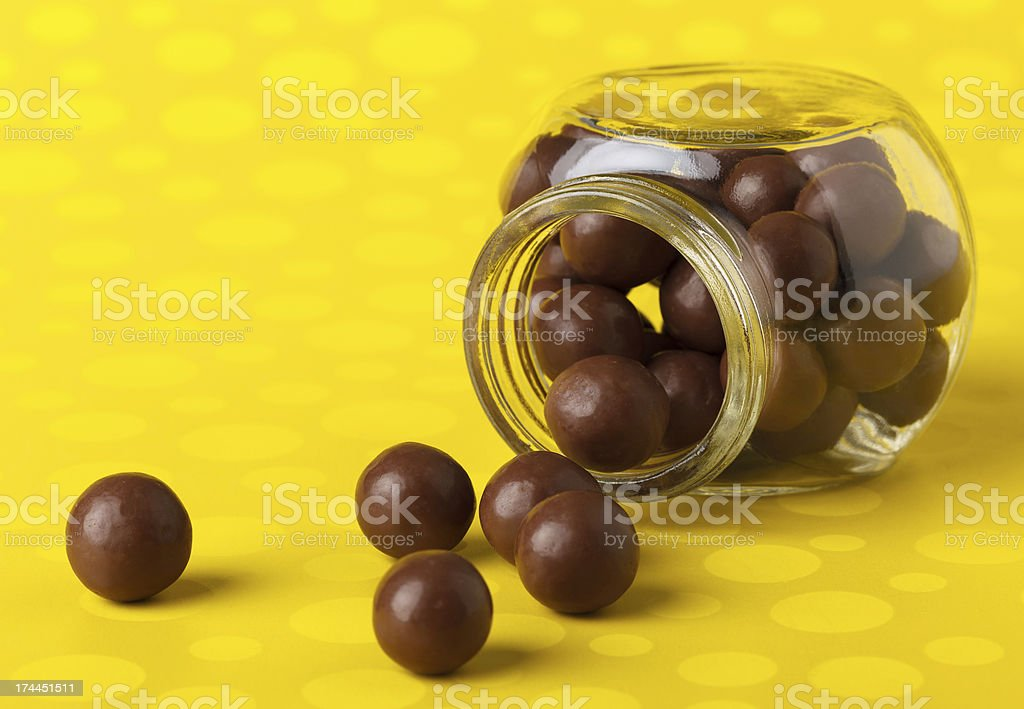 Jar of Chocolate Balls stock photo