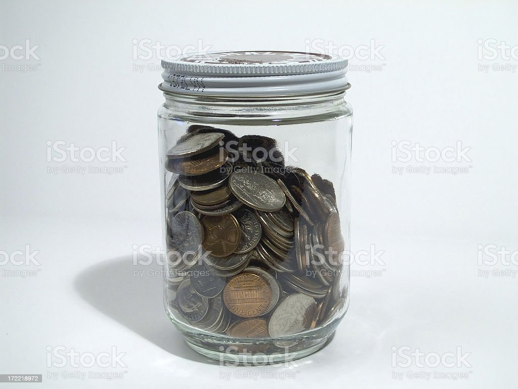 Jar of coins royalty-free stock photo