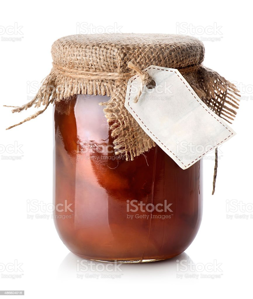 Jar of confiture stock photo