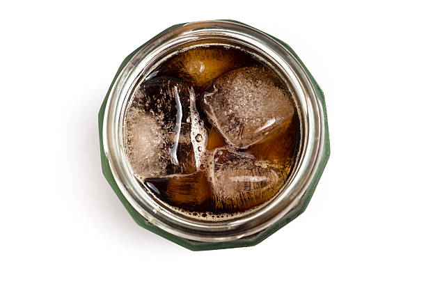 jar of iced cold brew coffee - iced coffee stock pictures, royalty-free photos & images