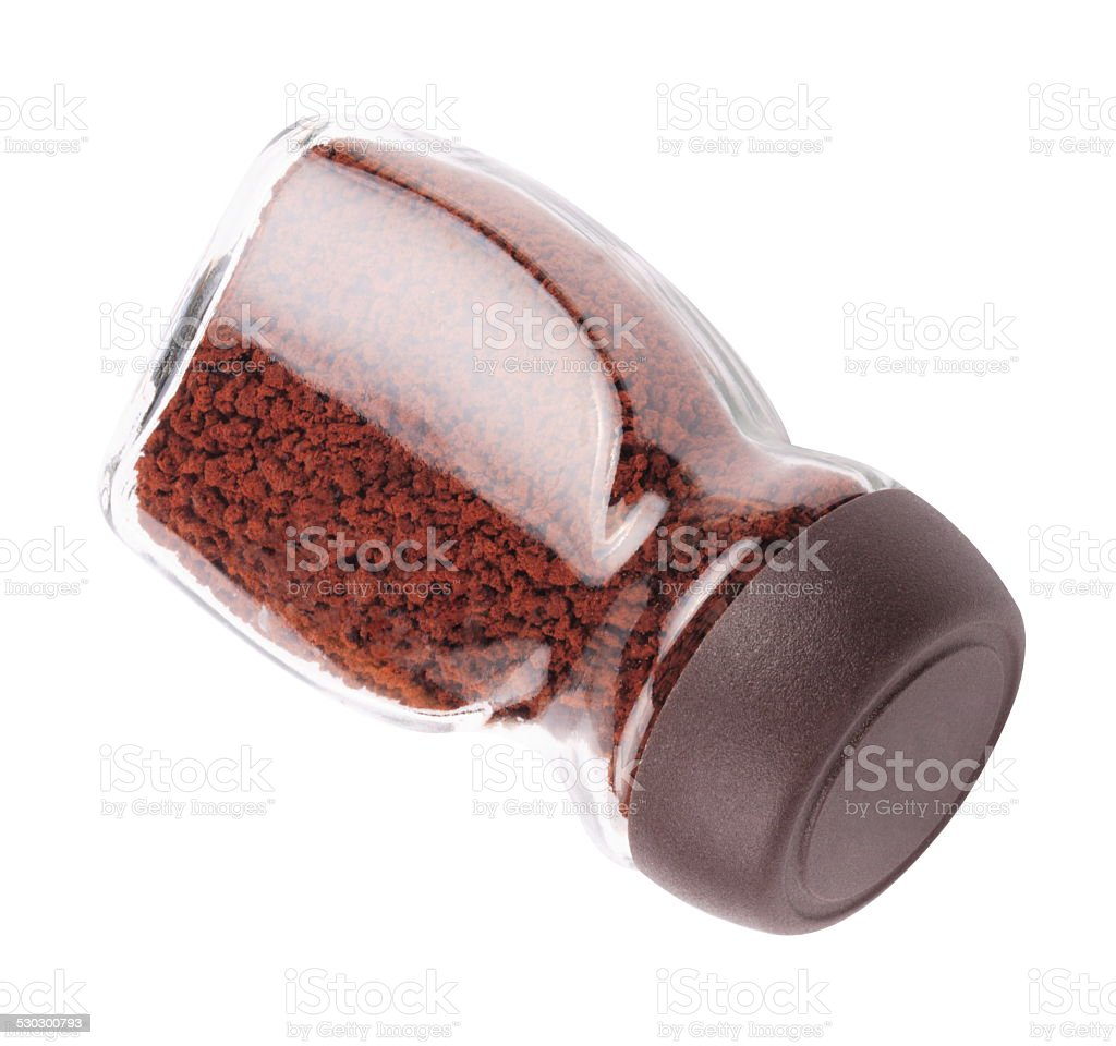 Jar of Instant Coffee Isolated stock photo