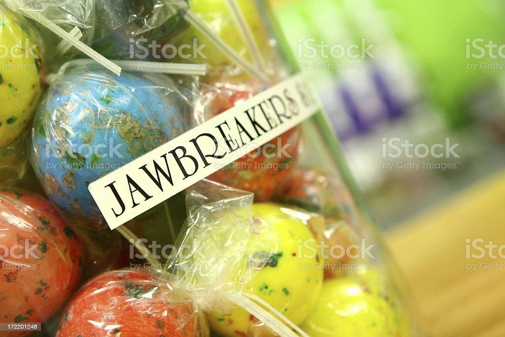 Jar of Jawbreakers royalty-free stock photo