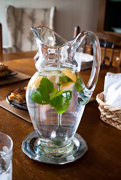 Jar of lemonade stock photo