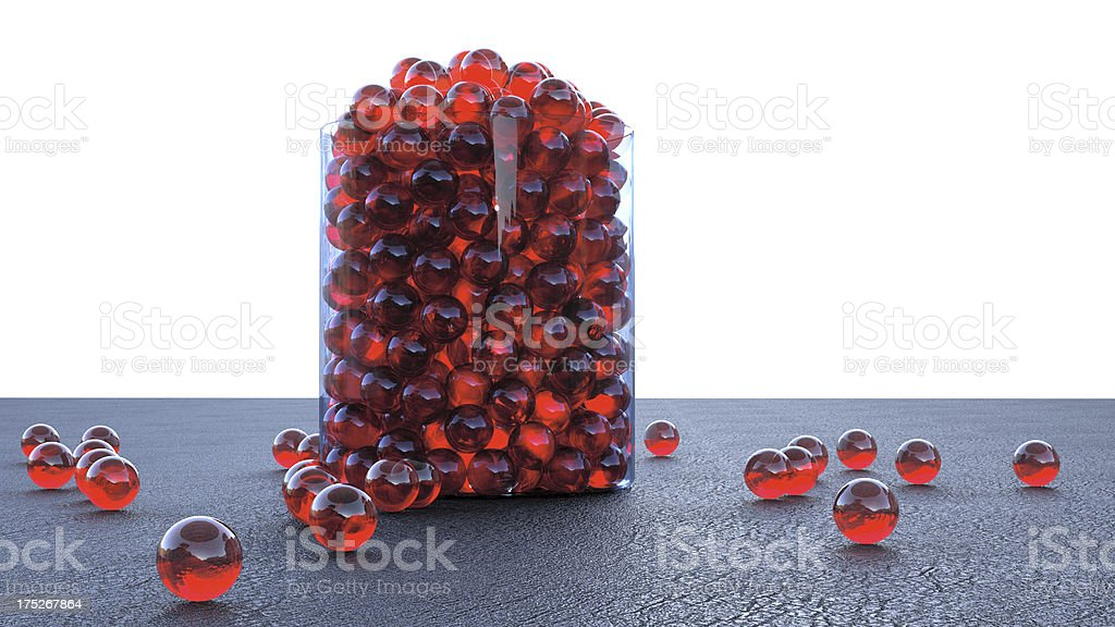 Jar of Marbles stock photo