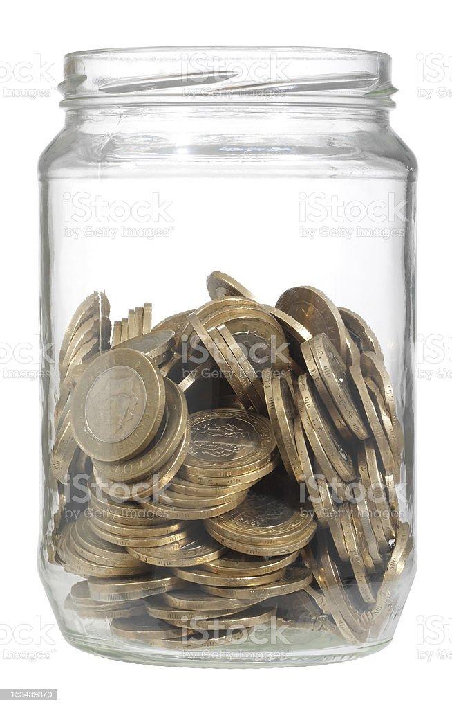 jar of money stock photo