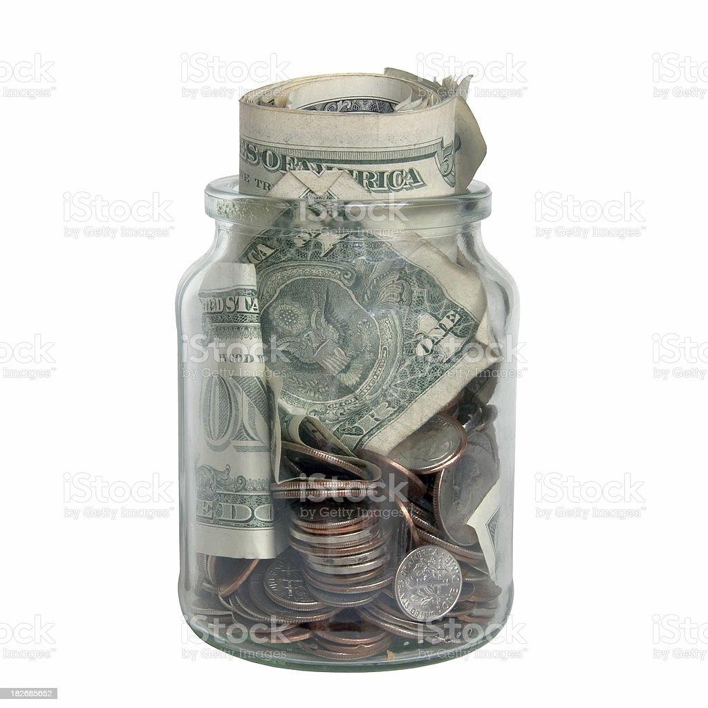 Jar of money royalty-free stock photo
