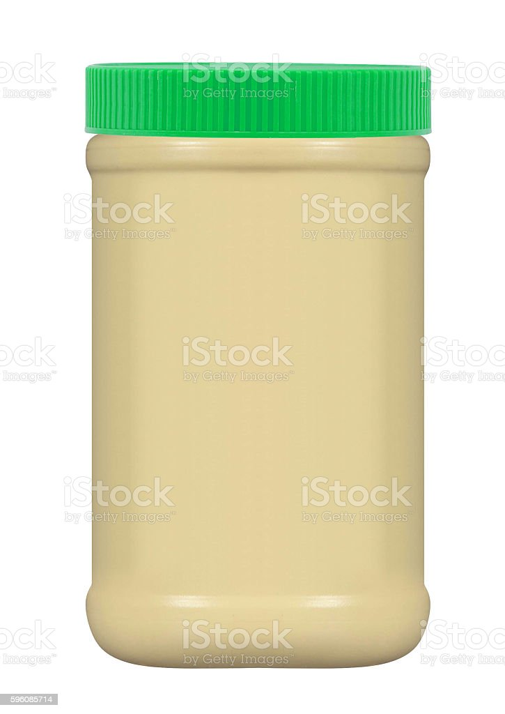 Jar of peanut butter royalty-free stock photo