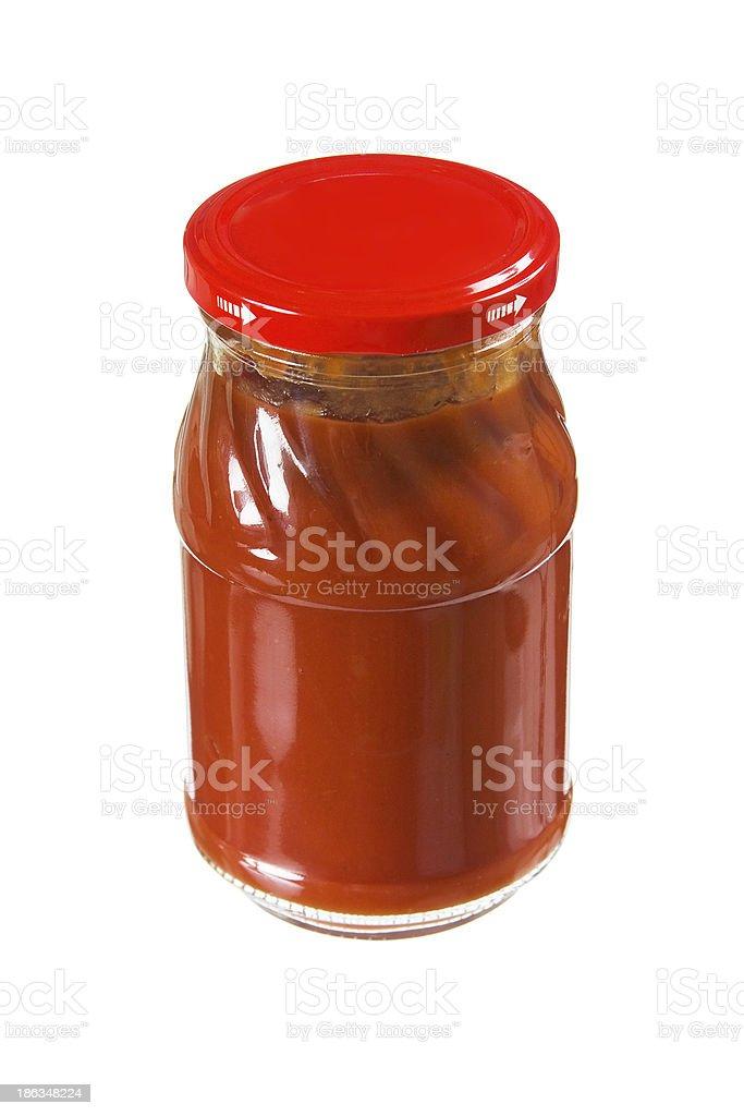 jar tomato paste royalty-free stock photo