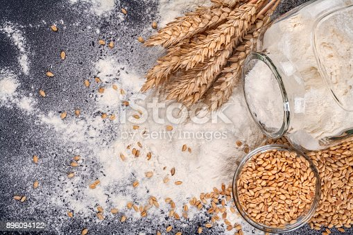 istock Jar with flour and grain 896094122
