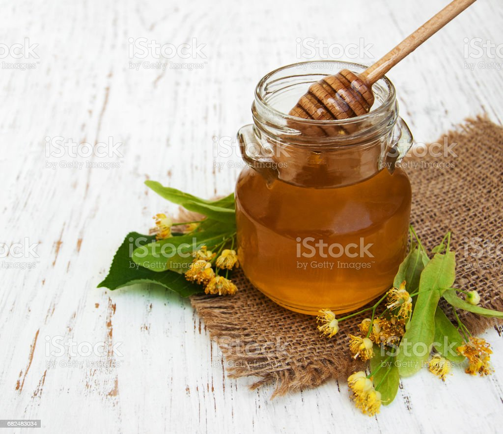 Jar with honey foto stock royalty-free