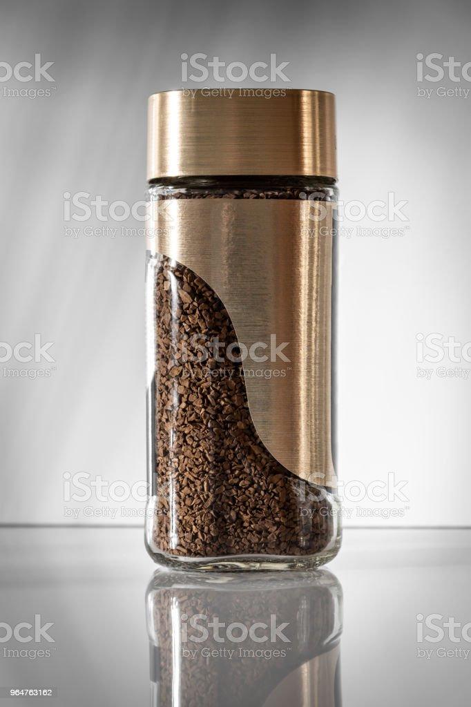 A jar with instant coffee royalty-free stock photo