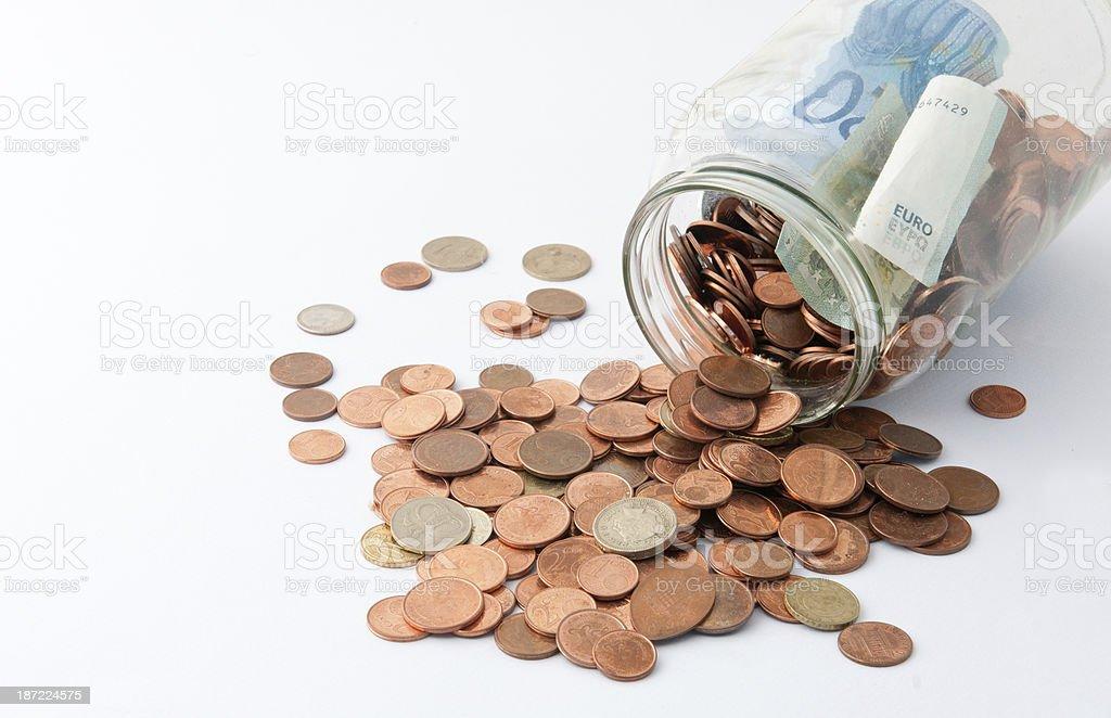 Jar with money. royalty-free stock photo