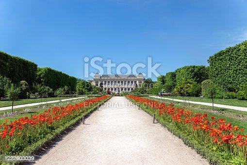 Paris, France - June 1 2019: Jardin des Plantes